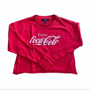 Coca-Cola Cropped Long sleeve Top